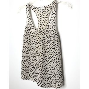 Joie cream silk tank with black dots Size XS